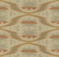 Kravet Ethnic Ikat Orange Blue Woven Upholstery Fabric (32548-512) 2.0 yds