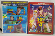 Toy Story 3D Trilogy (U.S release)+Toy Story 4 3D Region-Free Blu-ray+Slip Cover
