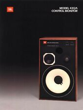 JBL 4312A CONTROL MONITOR SALES BROCHURE 4 Pages