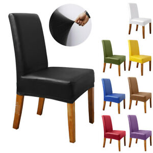1/2/4/6Pcs Waterproof Dining Chair Covers Stretch Banquet Party Seat Slipcovers