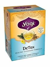 Detox Tea 16 Bags No Caffeine Yogi Teas Liver & Kidney Function Body Purifier