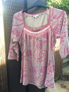 FAT FACE soft Cotton Modal Tunic TOP Size 16.