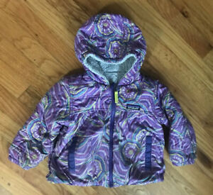 Patagonia Quilted Hooded Jacket Reversible Purple Multicolor Toddler 2T