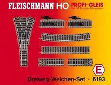 Fleischmann 6193 H0 Profi-Gleis Dreiwegweichenset E