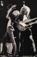 LED ZEPPELIN ROBERT PLANT JIMMY PAGE GIBSON SG GUITAR CONCERT LIVE PHOTO POSTER