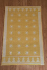 Vintage Serge LeSage Tip Top Throw Rug, Light Yellow in Color with Cream Accents