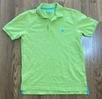 Men's Brooks Brothers 100% Cotton Slim Fit Green Golf Polo Shirt Size Medium