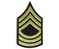 """(00) US ARMY MASTER SERGEANT 3"""" x 5.5"""" iron on patch (5809) Biker Military"""
