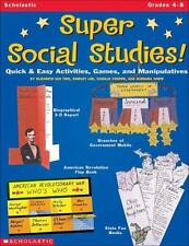 SCHOLASTIC TEACHING RESOURCES SUPER SOCIAL STUDIES GR 4-8 (Set of 3) by