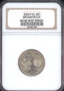 2000-P SC Washington Quarter Mint Error Broadstruck NGC MS65