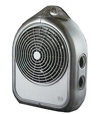 2400W Black Slimline Upright Heater - Adjustable Thermostat & Ceramic Element