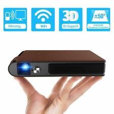 Tragbar 3D WIFI Beamer DLP Full HD 1080P Video Projektor Heimkino Mini 7000:1 AV