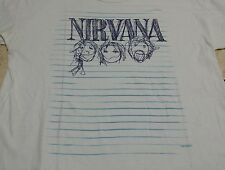 "Vtg rare 90s nirvana notebooks/nirvana doodle 1997/size medium(21""/31"") /original"