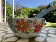 Cath Kidston Pop Flowers Melamine Salad Bowl And Servers Picnic Camping Party