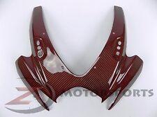2006 2007 GSX-R 600 750 Upper Front Nose Panel Cowl Fairing Carbon Fiber Red