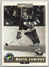 1992 Classic Hockey Draft Picks Card #SP2, MARIO LEMIEUX FLASHBACK, Penguins