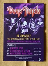 DEEP PURPLE + Orchestra 15x20 cm rare flyer mini poster UK tour hard rock
