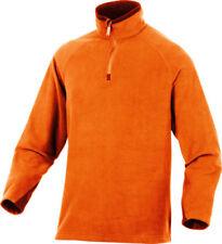 Capi d'abbigliamento da campeggio da uomo arancione in pile taglia S