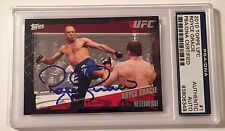 2010 Topps UFC Welterweight Royce Gracie Signed Trading Card PSA/DNA Slabbed