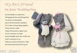 BEST FRIEND WEDDING GIFT ( laminated gift)