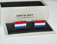 Mens Cufflinks - Netherlands Dutch Flag Design *New* Gift