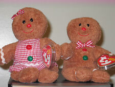 Ty Beanie Baby Set ~ HANSEL & GRETEL the Gingerbread Man ~ MINT with MINT TAGS