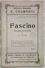 1920's A. GORI FASCINO SPARTITI ORCHESTRA MUSICA