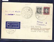 51395) KLM Polar FF Amsterdam - Tokio 1.11.58, Karte ab DDR, Mängel !