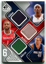 2009-10 SP Game Used TIM DUNCAN Kevin Garnett DIRK NOWITZKI 6X Jersey Patch #/99