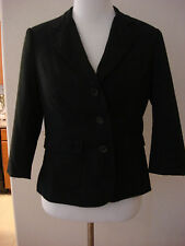FOREVER 21 Black with Gray Stripes LINED BLAZER. Size L.  EXCELLENT CONDITION
