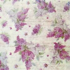 Rice paper Decoupage Scrapbooking Sheet Lilac Flower Decopatch