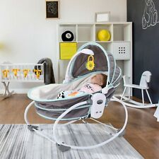 5 in 1 Portable Baby Rocking Bassinet Crib W/ Adjustable Canopy 2 Colors Choose