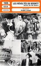 FICHE CINEMA : LES REVOLTES DU BOUNTY - Laughton,Gable 1935 Mutiny on the Bounty