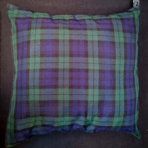 "Tartan Cushion Cover Decorative Trendy Case fits 18"" x 18"" Scottish Black Watch"