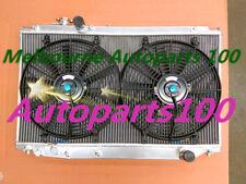 Aluminum radiator for Toyota Supra JZA80 Turbo 1993-1998 Manual with fans
