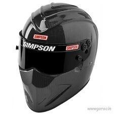 Simpson Carbon Fiber Diamond Back Helmet SA2015 Hans Device,Hybrid Ready,Safety