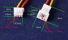 20 Pairs Micro JST 1.25 3 Pin Male and Female Connector plug with Wires Cables