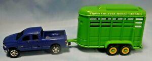 ERTL Daimler Chrysler Corp. Dodge Ram 1500 and a Maisto Horse Trailer Scale 1:64