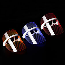 3 Colors Light  LED Facial Mask For Skin Rejuvenation Anti-aging Photon Therapy