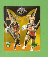 TIP TOP NRL 2013 RUGBY LEAGUE FOOTY SUPERSTARS TAZO #48 WESTS TIGERS PAIR