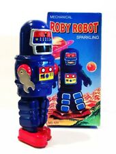 BRAND NEW MECHANICAL ROBY ROBOT SPARKLING SUPT MS 429 TIN WIND UP ROBOT MINT