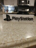 Playstation style logo sign 8in (shelf sign, game room, decor, video game)