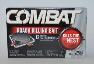 Nuevo Combat Roach Matanza Cebo 12 Estaciones Grande Pequeña Cucarachas Mata El