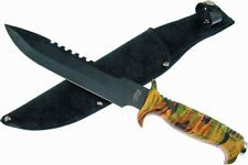 Frost Cutlery & Knives 18430Ca Jungle Fever V Bowie | Sawback Blade | Camo Handl