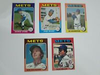 1975 Topps Baseball 5 Card Lot New York Mets.   Very Good to Excellent-NRMT.