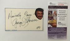 George Liberace Signed Autographed 3x5 Card JSA Certified