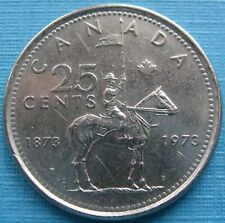 Canada – 1973 Quarter 25 Cents – RCMP Centennial – Circulated
