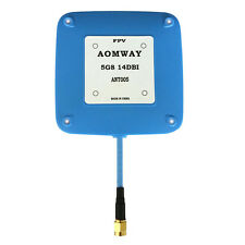 Aomway 5.8GHz 14dbi High Gain Flat Patch FPV Receiver Antenna V2 SMA Male RHCP
