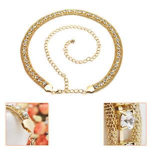 Womens Diamante Waist Chain Charm Belt Adjustable Row for Girl Fashion Accessory