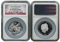 2014 P Australia Silver High Relief Horse NGC PF70 UC One Of First 500 Struck